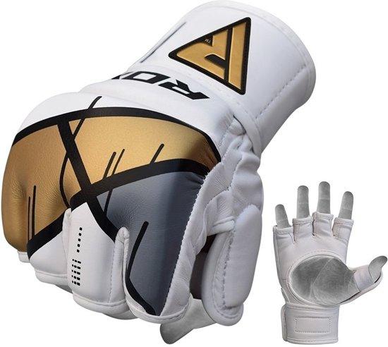 RDX Grappling Gloves REX T7 - Rood L - Leer