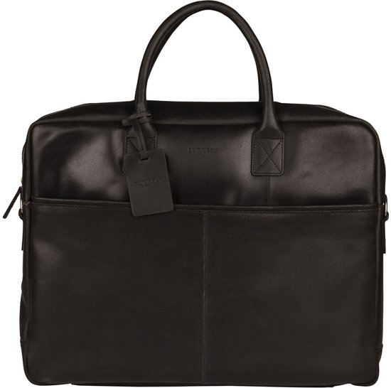 BURKELY Vintage Max Aktetas - 17 inch laptoptas - Zwart