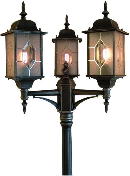 Konstsmide Milano - 3-lichts 230cm - 230V - E27 - matzwart/RVS