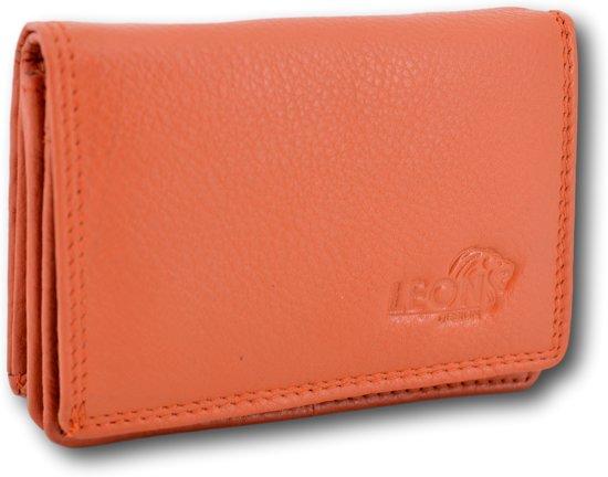 LeonDesign - 16-W02C1414-14 - dames - portemonnee - Oranje - leer