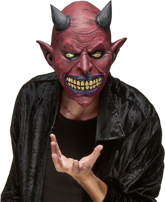 Enge duivel masker voor volwassenen Halloween - Verkleedmasker - One size