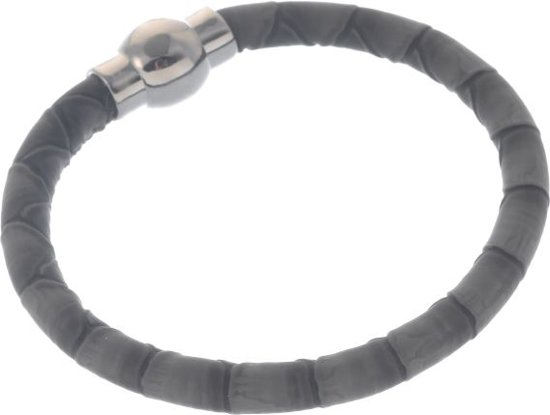 Magnetische armband met PU leer lengte 20 cm