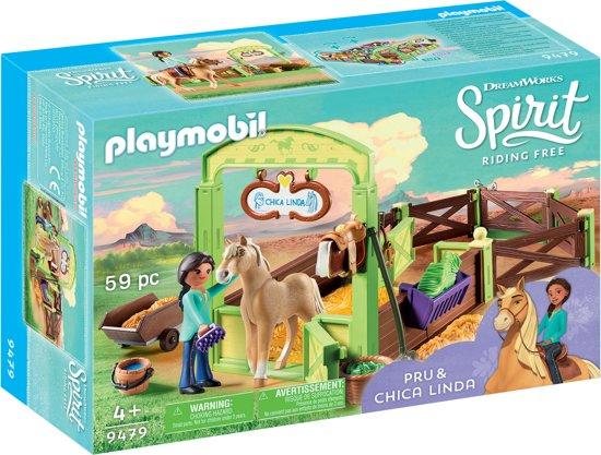 PLAYMOBIL Pru & Chica Linda met paardenbox - 9479