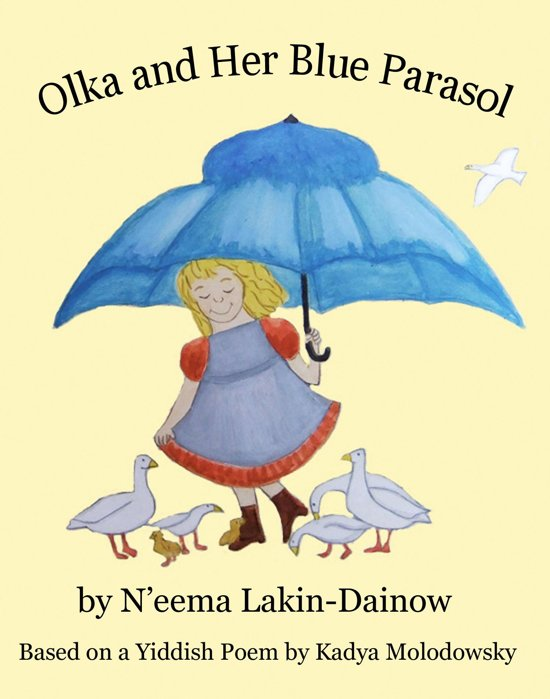 Olka and Her Blue Parasol
