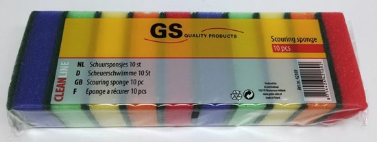 Schuurspons - 10 stuks - diverse kleuren