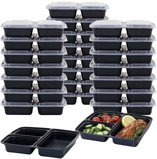 Maoo Meal Prep Containers - 24 Stuks - Fit E-Book & Bestek - Lekvrij Design - Bakjes met Deksel