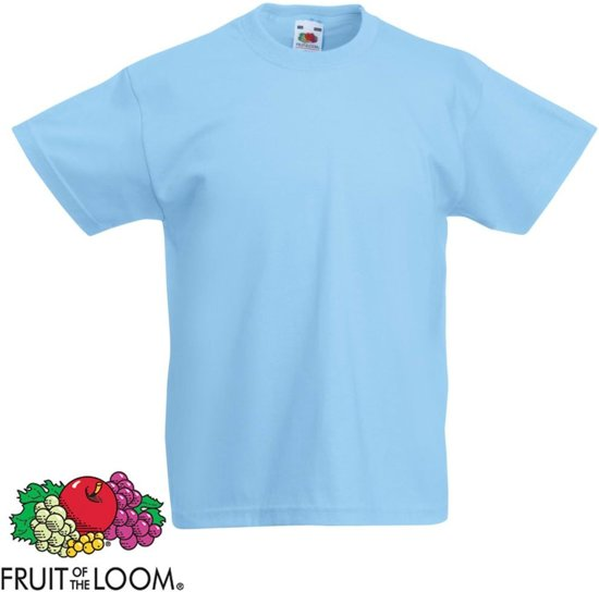 Fruit of the Loom Original Kids T-shirt 5 stuks sky-blauw maat 104