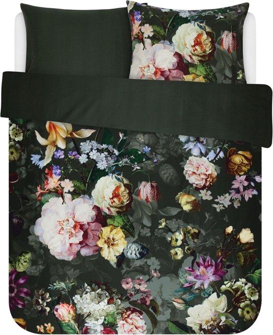 Essenza Home dekbedovertrek Fleur green - extra kussensloop (60x70 cm)