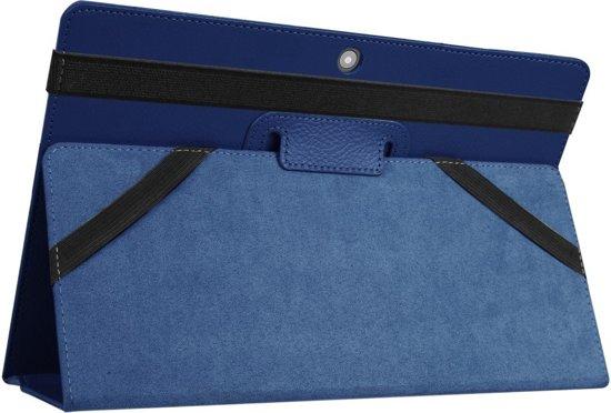Shop4 - Lenovo Miix 320 Hoes - Book Cover Folio Blauw in Dekkershuizen