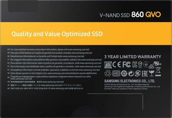 Samsung 860 QVO 1TB 2,5 inch SSD