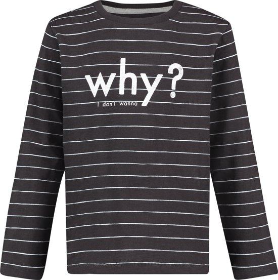 Noppies Unisex Slimfit T-shirt met lange mouwen Pocatello - Phantom - Maat 116