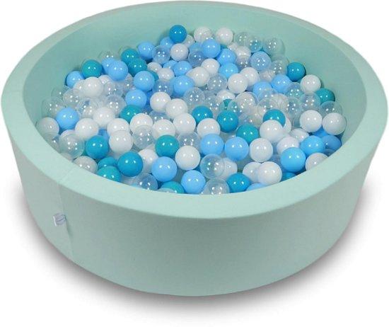 Ballenbak - 400 ballen - 115 x 30 cm - ballenbad - rond groen