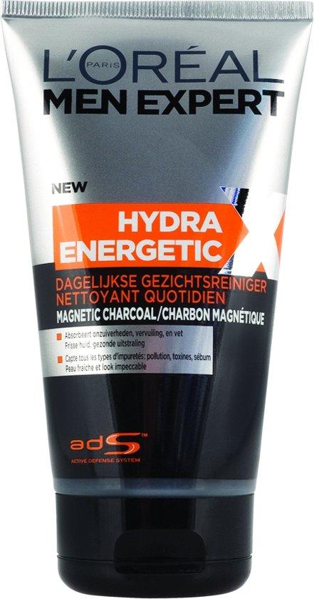 L'Oréal Men Expert Hydra Energetic Reinigingsgel - 150 ml - Charcoal - Tegen puistjes