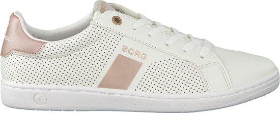 a95827f8932 bol.com | Bjorn Borg Dames Sneakers T307 Low Prf Met T - Wit - Maat 38