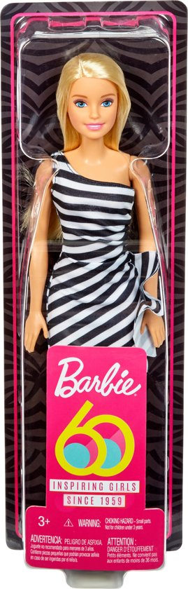 Barbie Glitz 60th Pop Met Blond Haar - Barbiepop