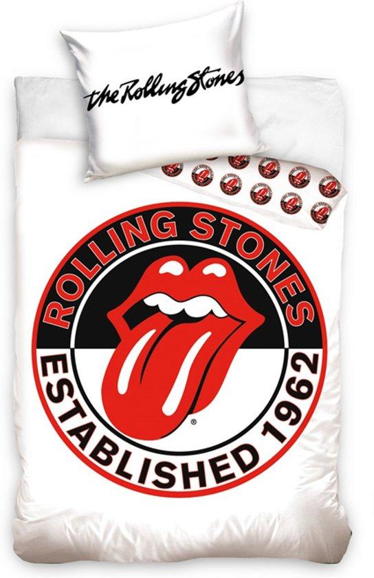 The Rolling Stones Dekbedovertrek - Eenpersoons - 140x200 cm - White