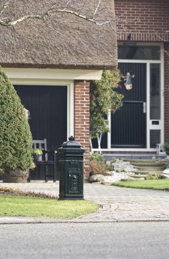 Gietaluminium nostalgische brievenbus groen
