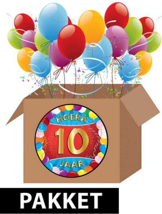 jarig 10 jaar bol.| 10 jaar versiering voordeel pakket, Fun & Feest Party  jarig 10 jaar