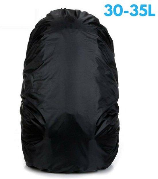 4adb5658a1b Flightbag Regenhoes Waterdicht voor Backpack Rugzak - 30-35 Liter Regenhoes  – Zwart