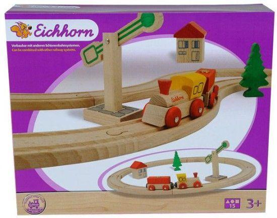 Eichhorn Cirkel baanset - Hout - 15-delig