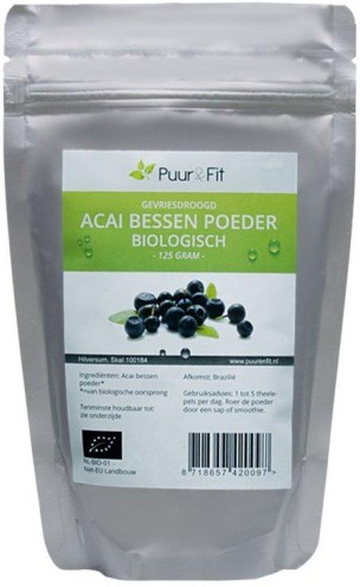 Acai bessen poeder, biologisch (125g - Puur&Fit)