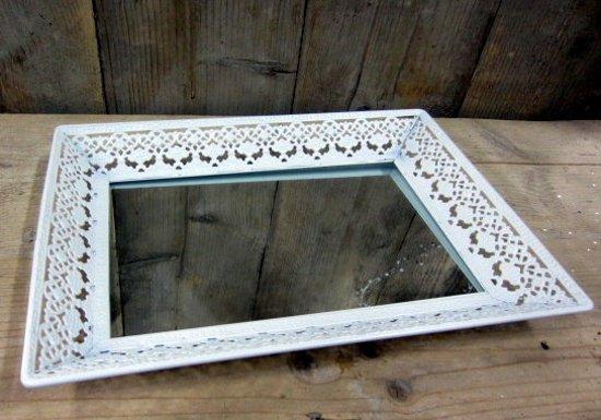 Spiegel Zwart Metaal : Bol dienblad wit met spiegel
