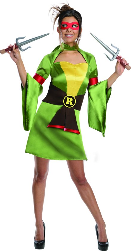 TMNT Lady Raphael - Kostuum Volwassenen - Maat XS - 32 - Carnavalskleding
