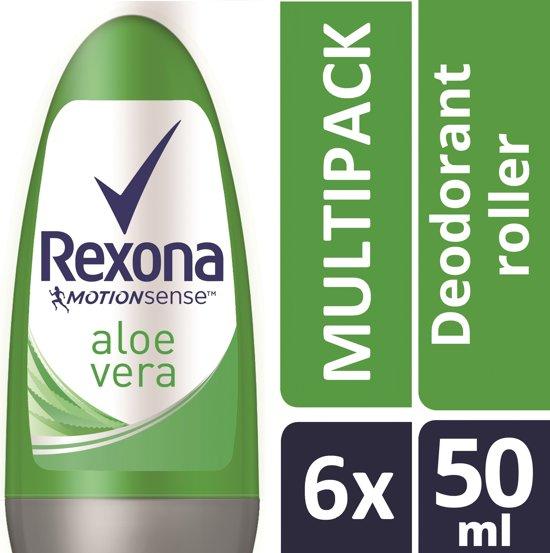 Rexona Fresh Aloe Vera Deodorant - 6 x 50 ml - Voordeelverpakking