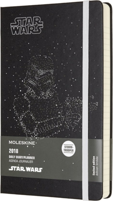Moleskine Limited Edition Star Wars - 12 Months Daily Planner 2018 - Large - Black - Hard Cover