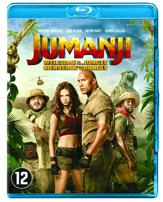 DVD cover van Jumanji: Welcome To The Jungle (Blu-ray)