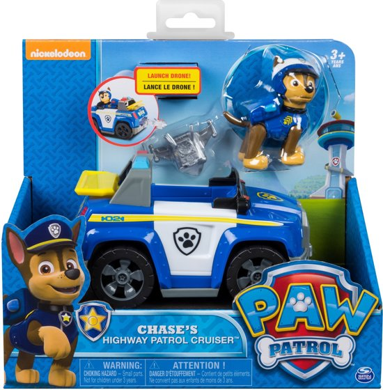 Bolcom Paw Patrol Rescue Voertuig Met Pup Chase Highway Cruiser