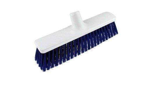 Hygiëne Straatbezem blauw / wit 30 cm