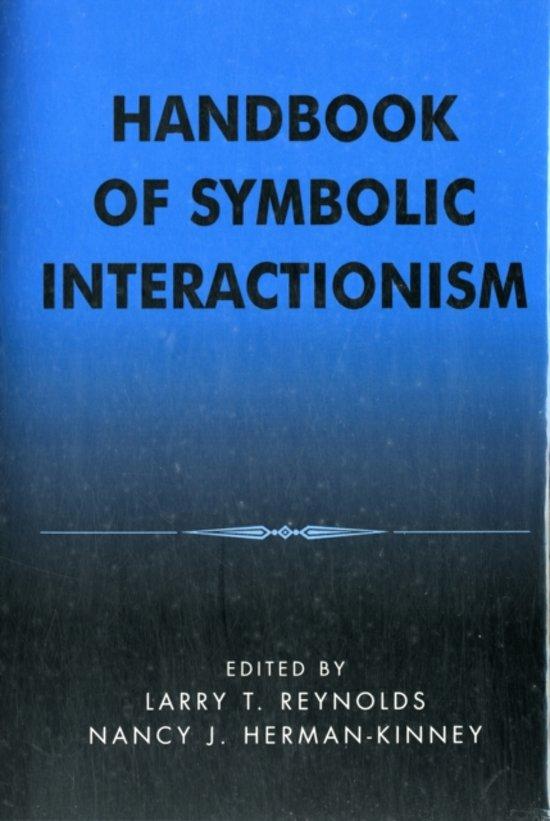 Bol Handbook Of Symbolic Interactionism 9780759100923