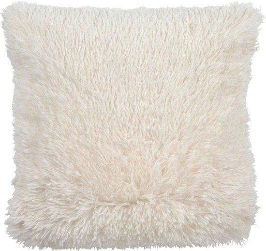 Dutch Decor Fluffy - Kussenhoes - 45x45 cm roze
