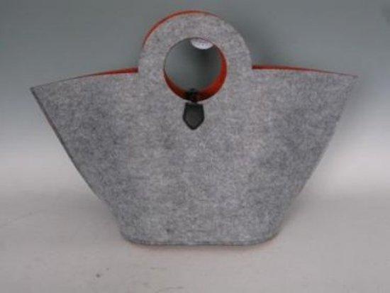 Vilt tas oranje/grijs rond handvat groot VDOStyle