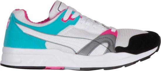 Puma Trinomic XT 1 Sneakers - Maat 35.5 - Unisex - wit/licht blauw/zwart/roze