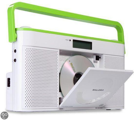 Salora Crp640Cd - Portable Radio/ CD Speler - Wit