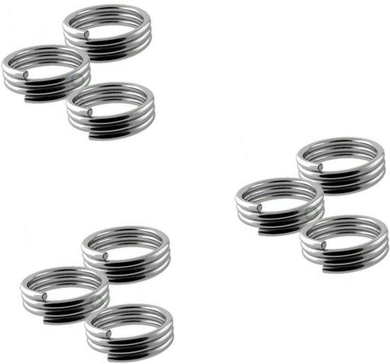 Veerringetjes voor shafts Zilver - 3 Sets (9 stuks) Dragon darts - darts shafts