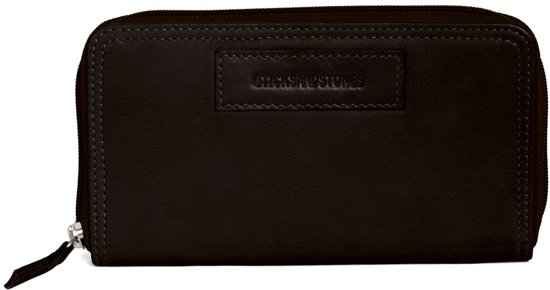 Sticks and Stones Venice Wallet - Portemonnee - Dark Brown
