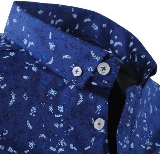 Overhemd Blauw Donker Stretch Heren Met Slim Design Fit Carisma Trendy 4w1U5qa5x