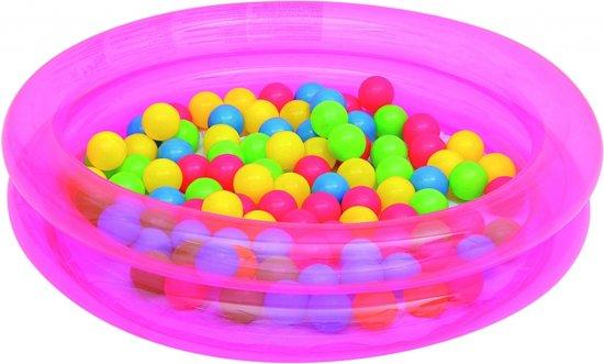 Bestway Opblaasbaar Zwembad Ballenbak Roze 91 X 20 Cm