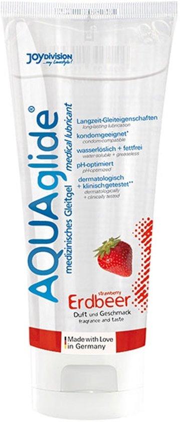 AQUAglide Glijmiddel Aardbei - 100 ml