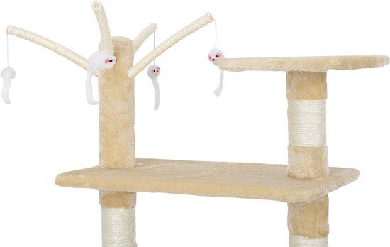 Krabpaal - krabmeubels - krabspeelgoed-65x35x130cm-Crème