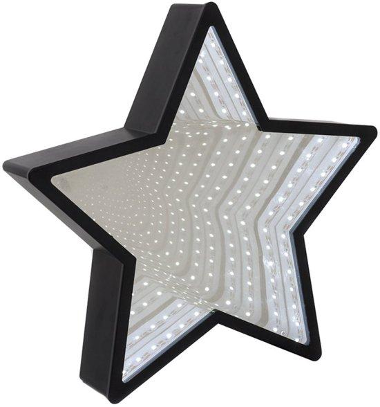 Oneindige Hangende LED Verlichting Sterren Infinity Star Light Muurspiegel - Zwart