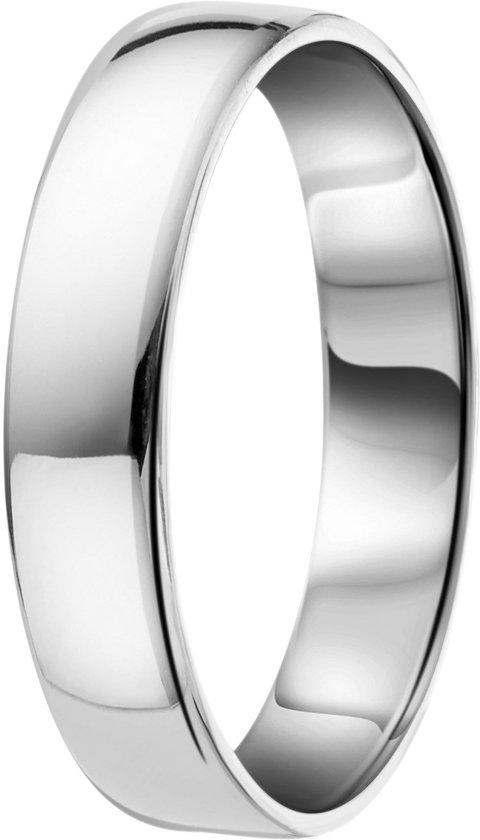 Lucardi - Zilveren ring glad 4mm