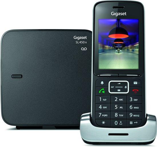 Gigaset SL450A - Single DECT telefoon - Antwoordapparaat - Zilver/Antraciet