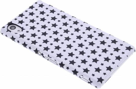 Conception Étoile Blanche Étui Rigide Pour Sony Xperia M4 Aqua mB1MLRgj