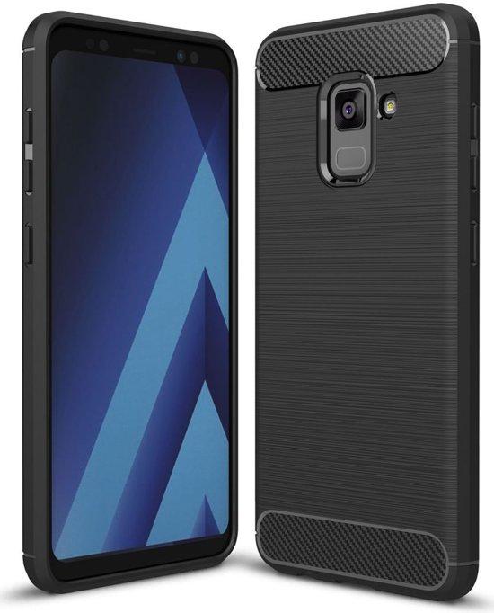 Boîtier Flip Noir Tpu Pour Samsung Galaxy A8 (2018) VHQIDK2x
