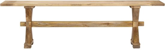 vidaXL Halbank 160x35x45 cm massief mangohout