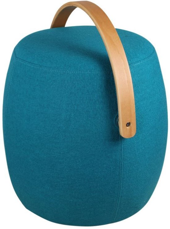 Bol Com Ds4u Color Hocker Wol Petrol Blauw